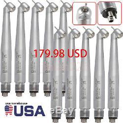10 NSK PANA MAX Type Dental 45 Degree Surgical High Speed Handpiece Turbine 4H-W