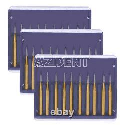 10 Pks Dental High Speed Handpiece Lab Burs Tungsten Carbide Drills FG7901 Kit