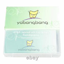 10 Yabangbang Dental Handpiece High Speed 3Way Turbine Push Button 4-H Fit KAVO
