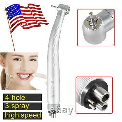 10 x Dental High Speed Handpiece Triple Spray 4-Holes Yabangbang NSK Style