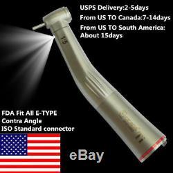 15 LED Fiber Optic Contra Angle Increasing Dental Handpiece NSK E-TYPE KAVO
