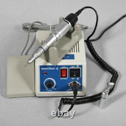 2019 Dental Lab Marathon 35K RPM Electric Micromotor + High Handpiece +drill 10