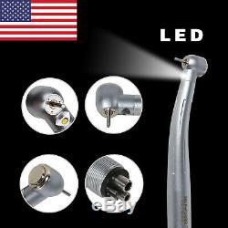 5 Fit KAVO 4 hole Dental E-generator Fiber Optic LED High Speed Handpiece USA