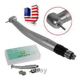 5 Pcs NSK Style Dental High speed Turbine Handpiece Push button + 4-Hole Coupler