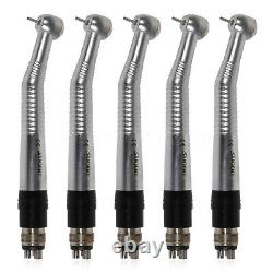 5Dental High Speed Big Head Handpiece Push With 4 Holes Coupler Swivel fit NSK