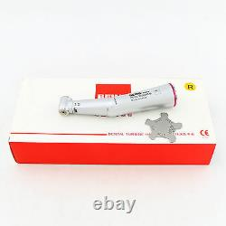 BEING 15 Inner Water Fiber Optic Contra Angle Handpiece 1.6mm Dental Red Ring