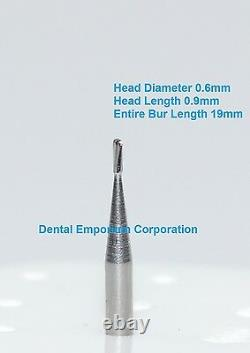 Dental Carbide Burs FG # 329 Pear for High Speed Handpiece 100 Package