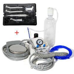 Dental High Fast/Low Slow Speed Handpiece Kit & Portable Air Turbine Unit 4H UK