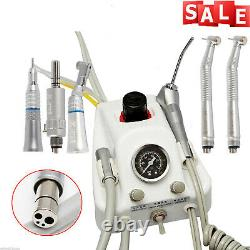 Dental High Low Speed Handpiece Kit & Portable Turbine Unit 4 Hole Yabangbang