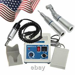 Dental Lab Marathon 35K RPM Micromotor+2X Low Speed Handpiece + 10Burs NN3-Z