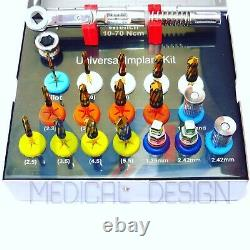 Dental Universal Dan Sah Burs Kit Implant Torque Wrench Ratchet Drivers Hex Key