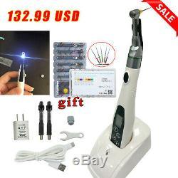 LED Dental Endo Motor Endodontics Root Treatment Cordless 161 & 6pc Niti Files