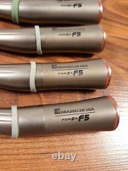 Lot of 6 Brasseler FORZA F5 15 High Speed Electric Dental Handpiece