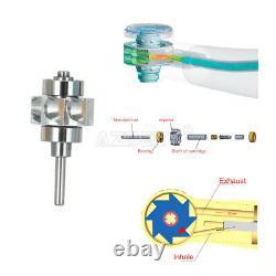 NSK Style Dental 3/4 Water Spray High Speed LED Handpiece E-Generator 4 Hole