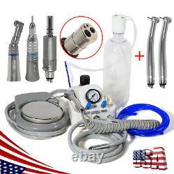 USA Dental High Low Speed Handpiece & Portable Turbine Unit Air Control 4 Hole