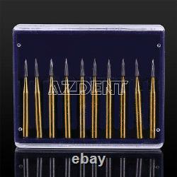 10 Pks Dentaire Haute Vitesse Pièce À Main Lab Burs Tungsten Forets De Carbure De Tungstène Fg7901 Kit