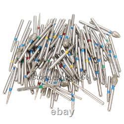 1000pcs Dental Tooth Drill Diamond Bur Pour Haute Vitesse Handpiece 158 Types Burs