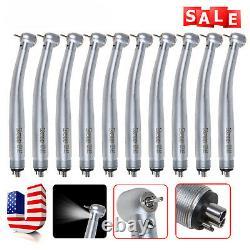10pcs Kavo Style Dental Fibre Optic Led E-generator Turbine Pièce À Main 4hole Udm