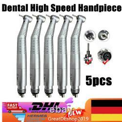 5handstück Dental Haute Vitesse Fibre Led Optic Pile À Main Turbine 4loch