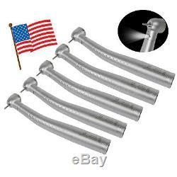 5pcs États-unis Dentaire Fibre Optique Led Turbine Pièce À Main Big Head Fit Kavo Coupler Yd6