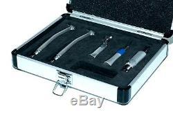 Aluminium Dentaire Handpiece Kit Set Voyage 2 Highspeed Et 1 4h À Faible Vitesse Handpiece