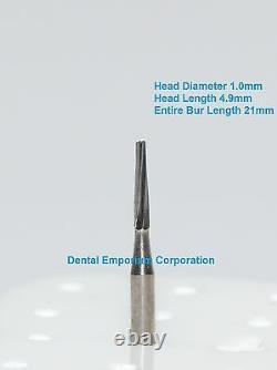 Dental Carbide Burs Fg # 170l Fissure Conique Pour HP À Grande Vitesse 100 Paquet