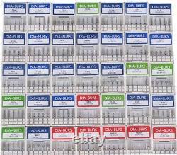 Dental Diamond Burs 156 Types Fg 1.6mm Pour Haute Vitesse Handpiece Fraises Dentaire