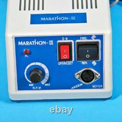 Dental Marathon 35k RPM Micromotor N3 Machine & Handpieces &10 Burs Drill Us New1