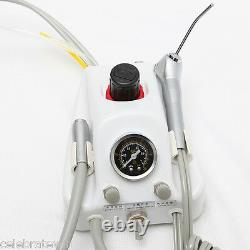 Dental Portable Air Turbine Unit+ Haute +slow Speed Handpiece+drill Burs10 Szo4