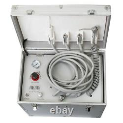 Dental Portable Delivery Mobile Unit Siutcase Aspiration Air Compressor Handpiece