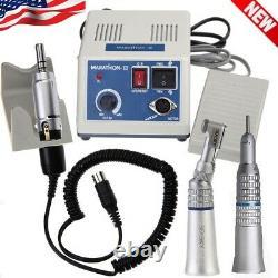 Laboratoire Dentaire Marathon 35k RPM Micromoteur+2x Pièce À Main Basse Vitesse + 10burs Nn3-z