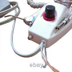Unité Dentaire Portable De Turbine D'air De 4 Trous Avec Le Kit De Pièce À Main À Basse Et À Grande Vitesse+burs