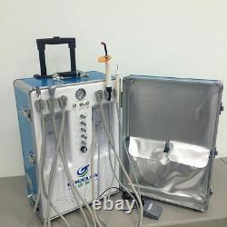 Unité Dentaire Portative Avec Compresseur D'air +chaise Dentaire+handpieces À Grande Vitesse